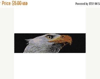 SALE HALF PRICE off Instant Download Beading Pattern Peyote Stitch Bracelet Eagle Seed Bead Cuff