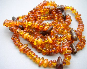 Amber necklace , baltic amber , about 1,49 m length