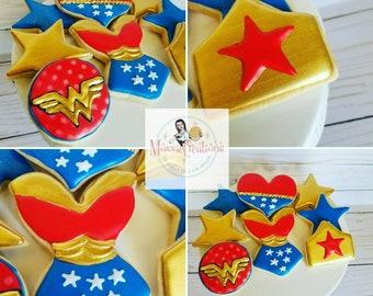 1 Dozen Wonder Woman Cookies