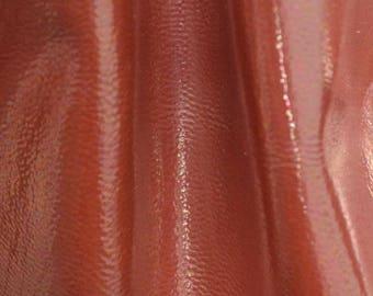 "Fashion Iridescent Burnt Orange Leather Cow Hide 8"" x 10"" Pre-cut 2 ounces BR-63163 (Sec. 3,Shelf 3,B)"