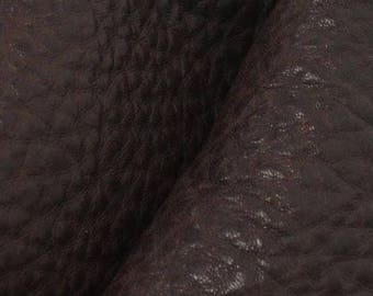 "NZ Deer Sale Rainforest Brown Leather New Zealand Deer Hide 4"" x 6"" Pre-cut 4-5 ounces-5 DE-66097 (Sec. 3,Shelf 5,A,Box 3)"