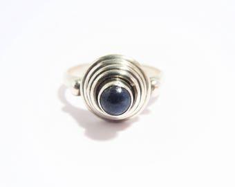 Vintage Sterling Blue Lapis Ring Size 9