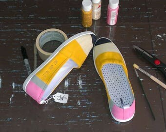 Classic Yellow No. 2 Pencil Shoes - Fun Canvas Shoes For Students and Teachers. Perfect for heading back to school!