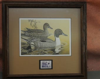 1984 Arkansas duck stamp print by Larry Hayden