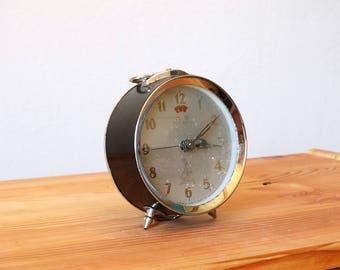 Five Rams Clock, Alarm Clock, Desk Clock, Retro Clock, Old Clock, Metal Clock, Office Clock, Table Clock, Mechanical Clock, Shelf Clock
