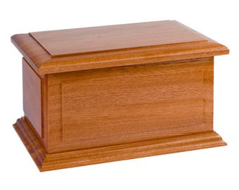 Boston Mahogany Wood Cremation Urn