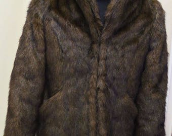 Synthetic Fur Jacket (1950s Reproduction)
