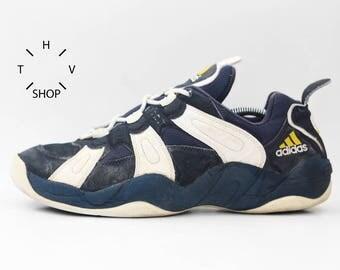 1997 Vintage Adidas Equipment Basketball sneakers / Bball Trainers / EQT Feet You Wear b-ball kicks hi tops / 90s Made in Vietnam