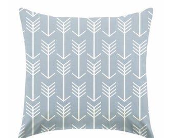 20% OFF SALE Decorative Pillow, throw pillow, toss pillow, cushion, pillow sham, steel pillow, blue pillow, white and blue pillow ZIPPER Clo