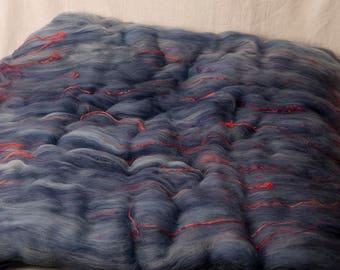 Luxurious and Luscious Large Batt for spinning (170229)