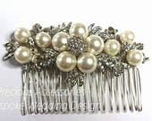 Bridal Hair Comb Bridal Hairpiece Pearl Hair Comb Wedding hairpiece Bridal Headdress