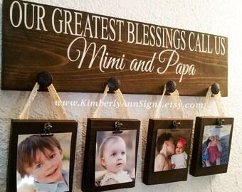 Greatest blessings, Our greatest, Blessings call us, Custom grandparents gift, Grandma gift, Grandparents gift, Wood sign, Custom wood sign
