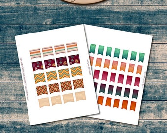 Happy Planner Digital Sticker Sheets, Flags: Autumn Joys
