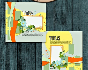 Digital Scrapbooking, Layout Templates: Blurred Lines