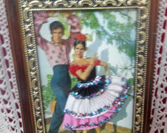 Vintage Retro Key Holder Spanish Flamenco 70's