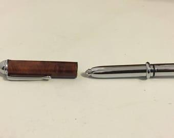 Australian Red Mallee Burr LED pen light