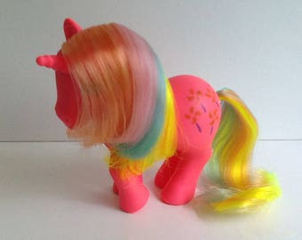 G1 My Little Pony PINWHEEL: Rainbow Pony Unicorn