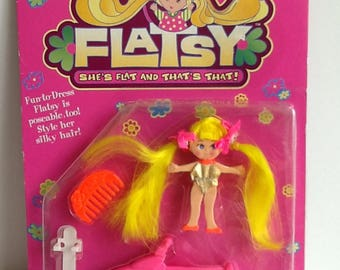 1994 JusToys Reissue FLATSY Mini Bendable Doll New in Package