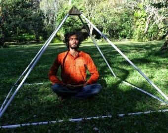 Giza Aluminium Meditation Pyramid 6 feet Heavy duty