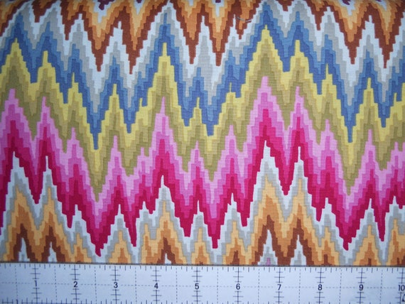 FLAME STRIPE Pastel  Kaffe Fassett Collective Sold in 1/2 yard units