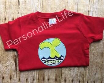 Whale Shirt, Appliqued Whale Shirt, Personalized Whale Shirt