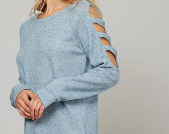 Cut-Out Sweater