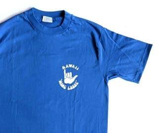 80's Vintage T Shirt Hawaii Hang Loose Surf Skate Beach