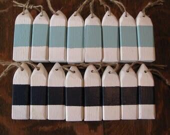 rustic mini buoys, lot of 3, buoys, 4 inch wooden buoys, small buoys, nautical, buoy ornaments, bulk, wholesale, SeaglassWithATwist