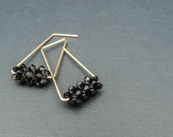 Everyday Black Earrings, Hoop Earrings, Everyday Earrings, Modern Gold Hoop Earrings, Gold Earrings, Earrings, Drop Earrings