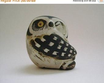 Gustavsberg Pottery Winking Owl Figurine by Edward Lindahl c1960
