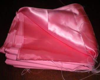 One piece 4 yards of Pink Crepe Back Satin Fabric 44 inch wide Bridal, Special Occasion Elegant Evening wear