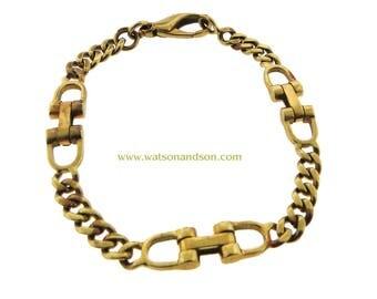 18k Yellow Gold Stirrup Bracelet