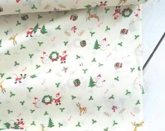 Under the Christmas Tree - Santa(Off White Background) - Lecien - Japan, Inc