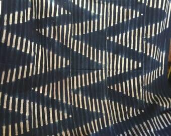 "Burikna faso Africa indigo textiles fabric 5ft 8"" 3ft 10"""