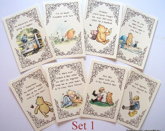 Winnie the Pooh Quotes, Prints for Framing, 2 Different Sets, Baby Shower, Birthday Party, Nursery, Decorations, Size: 4x6 or 5x7 Inches