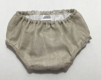 Linen Baby Bloomer - Infant bloomers - Diaper cover - Nappy cover - Baby shorts