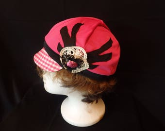 Pink and Black Original Design Kutzie Hat