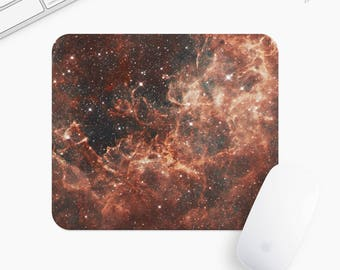 Galaxy and Stars Mouse Pad, Universe Mousepad, Rectangle or Round, Gift mp0003