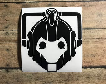 cyberman decal / delete / doctor who /