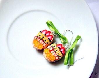 Earrings delicious fruit tart
