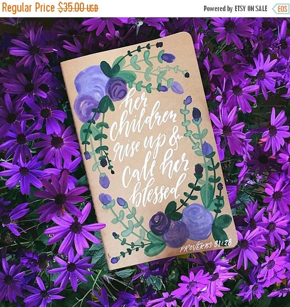 ON SALE Custom watercolor prayer journal, bridesmaids choose your bible verse, scripture gift, free personalization, bible journal, gifts fo