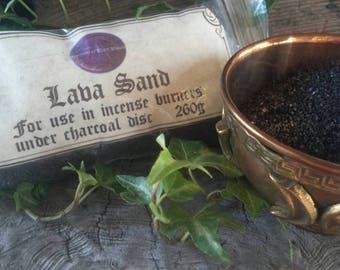 Black Lava Incense Sand - Black Sand -  Lava Sand - Incense Sand -  Beach Sand - Incense Burner Sand