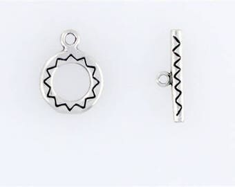 Sterling Silver 12mm Designer Toggle Clasp
