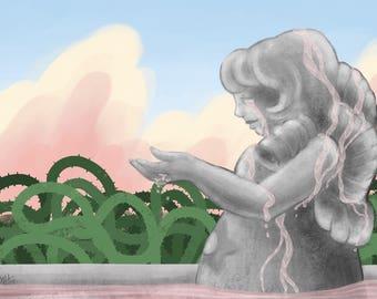 Print: Rose's Fountain