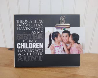 Aunt Photo Frame, Christmas Gift For Sister, Gift For Aunt, Auntie Gift, Sister Gift, New Aunt Gift, Pregnancy Reveal Picture Frame