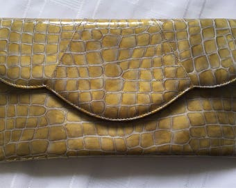 Vintage Renata moc croc clutch bag Italian made