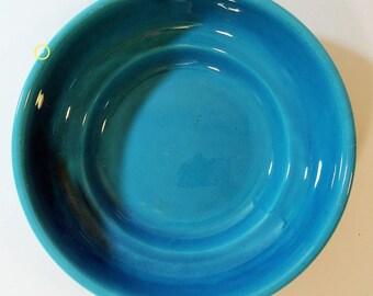 Betty Crocker Fiestaware Turquoise Bowl Fiestaware Style Homer LaughIin for General Mills 1940's