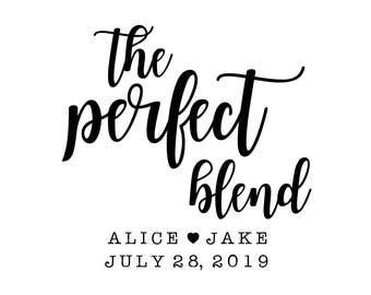 The Perfect Blend Stamp, Wedding Favour Bag, Tea Favour, Coffee Favour Stamp, Paper Bag Stamp, Candy Buffet Bag, Perfect Mix Bag, (cts223)