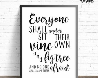 Vine & Fig Tree | Printable Sign | Hamilton
