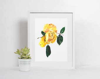 instant download, printable art print, yellow home decor, nursery wall art, 8x10 print, digital download, girls bedroom decor, gift for her